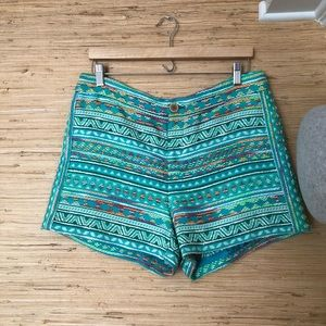 ELEVENSES embroidered shorts